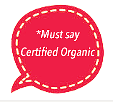 Must say certified organic
