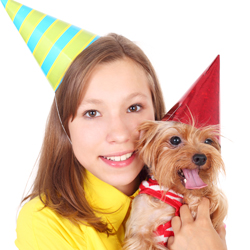 girl-and-morkie-with-party-hats