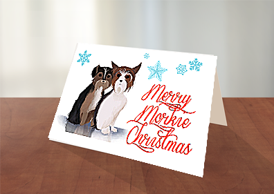 Merry Morkie Christmas - Free Christmas Cards to download