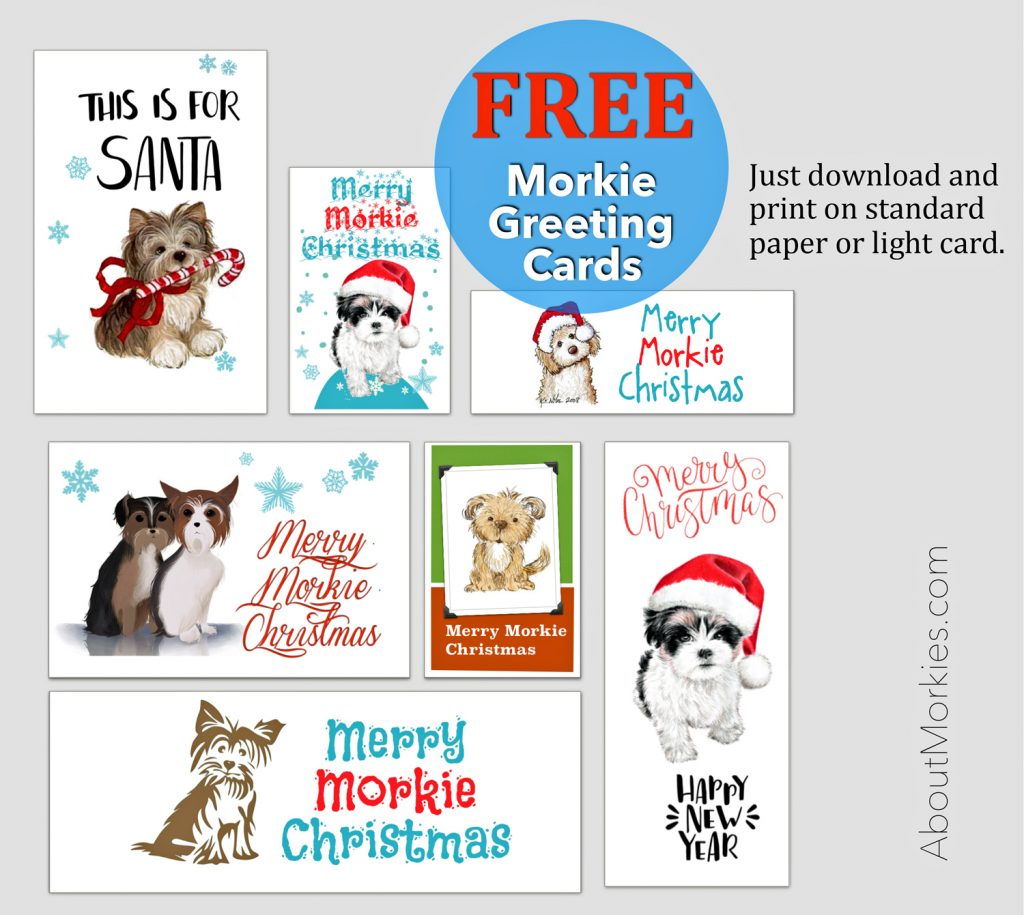 free Morkie cards