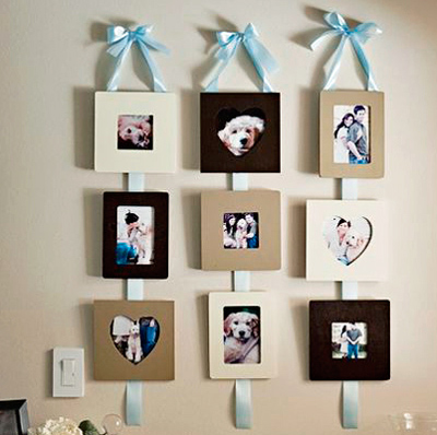 pictures displayed on ribbon