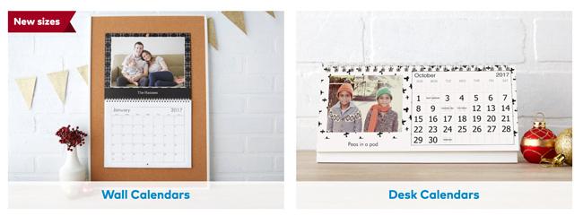sample calendars from vista print